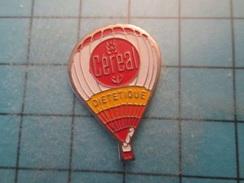 Pin510d Pin's Pins : BEAU ET RARE : BALLON LIBRE MONTGOLFIERE BISCUITS CEREAL DIETETIQUE , Marquage Au Dos : ------- - Airships