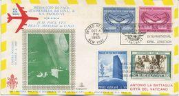 STATI UNITI - FDC  ROMA 1965  - PAOLO VI ALL'ONU - MESSAGGIO DI PACE ALL'O.N.U. - FDC