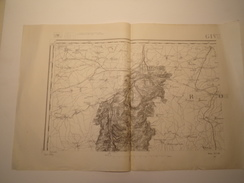 CARTE GIVET TYPE 1889 REVISEE 1913 - Topographical Maps