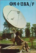 QSL Card Amateur Radio Station CB Belgian Begium Lessive RTT Grondstation Voor Telecommunicaties Via Satellieten 1983 - Radio Amateur