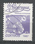 Nicaragua 1987. Scott #1604 (U) Tabebula Ochraceae, Fleurs, Flowers - Nicaragua