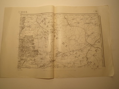 CARTE ROCROY TYPE 1889 REVISEE EN 1913 - Topographical Maps