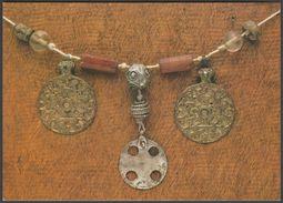 9th Century Anglo-Saxon Necklace, Saffron Walden Museum, C.1990 - Beric Tempest Postcard - Museum