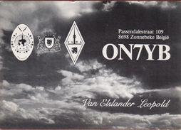 QSL Card Amateur Radio Station CB Belgian Begium Van Elslander Leopold Zonnebeke Ieper 1984 - Radio Amatoriale