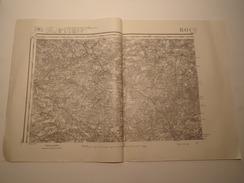 CARTE ROCROY EDITION PROVISOIRE REVISEE EN 1913 - Topographical Maps