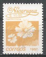 Nicaragua 1987. Scott #1605 (U) Tagetes Erecta, Fleurs, Flowers - Nicaragua