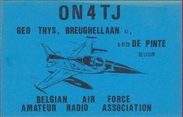 QSL Card Belgium Air Force Amateur Radio Station CB Belgian Army Armee Belge Luchtmacht Leger De Pinte  1983 - Radio Amatoriale