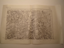 CARTE VERDUN EDITION PROVISOIRE REVISEE EN 1913 - Topographical Maps