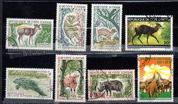 Lot De 8 Timbres Oblitérés - Sujet Animaux  - Côte D'Ivoire - Costa D'Avorio (1960-...)