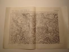 CARTE VERDUN EDITION PROVISOIRE REVISEE EN 1911 - Topographical Maps