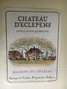 6350 - Château D'Eclépens Réserve Du Château   Suisse - Etiquettes