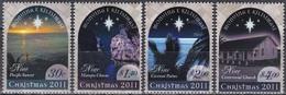 Niue 2011 Religionen Christentum Weihnachten Christmas Noel Sonnenuntergang Kirchen Palmen, Mi. 1188-1 ** - Niue