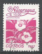 Nicaragua 1987. Scott #1606 (U) Tecoma Stans, Fleurs, Flowers - Nicaragua