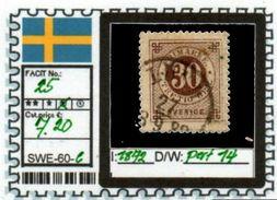 EUROPE:SWEDEN #CLASSIC#1870># (SWE-60-1) (06) - Oblitérés