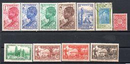Lot De 10 Timbres Neufs* 1 Timbre Oblitéré - Sujet Femme Daloue - Région Cotière  - Côte D'Ivoire - Côte D'Ivoire (1960-...)