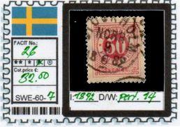 EUROPE:SWEDEN #CLASSIC#1870># (SWE-60-1) (07) - Oblitérés