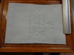 Monogramme Brodes G O Pour Loisirs Creatifs - Habits & Linge D'époque