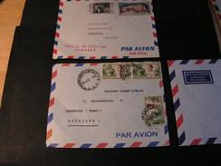 Africa France 2 Alte Briefe, Ca.  1960 - Briefmarken