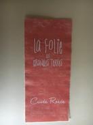 6355 -  La Folie Des Grandes Terres Cuvée Rosée Côtes De L'Orbe Suisse Petite étiquette Collées Sur Papier - Etiquettes