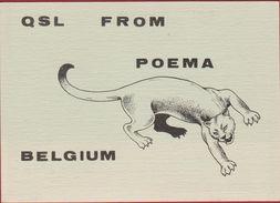 QSL Card Amateur Radio Station CB Belgium POEMA - Radio Amateur