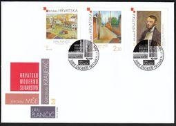 Croatia Zagreb 2004 / Croatian Modern Painting / Art / Mise, Plancic, Kraljevic /  FDC - Kroatien