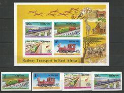 KENYA - MNH - Transport - Trains - Railway -  Imperf. - Trains