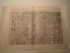 CARTE BAR LE DUC EDITION PROVISOIRE REVISEE EN 1911 CARTE DECHIREE AU NIVEAU DE LA PLIURE EN HAUT - Topographical Maps