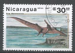 Nicaragua 1987. Scott #1622 (U) Pteranodon, Prehistoric Creatures - Nicaragua