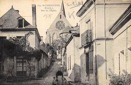 CPA 37 ST CHRISTOPHE RUE DE L EGLISE - France