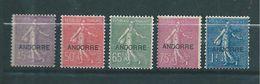 Andorre Timbres De 1931  N°14 A 18  Neuf *  Cote 152€ - Andorre Français
