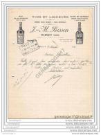 36 418 VALENCAY INDRE 1933 Vins Liqueurs J.M BISSON Fabrique QUINQUINA BIXI  -  ELIXIR DE VALENCAY Eau Gazeuse - 1900 – 1949