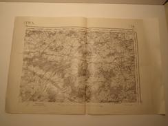CARTE REIMS EDITION PROVISOIRE REVISEE EN 1913 - Topographical Maps