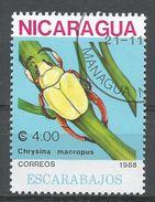 Nicaragua 1988. Scott #1726 (U) Chrysina Macropus, Insect - Nicaragua