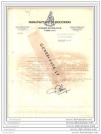 40 60 TOSSE LANDES 1954 Manufacture De Bouchon CHARLES DUVICQ ET FILS  Arme QUI VEUT PEUT  Commande Mr ALLIAS ˆ BLACHER - Alimentaire
