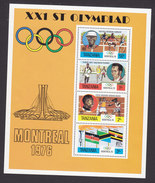 Tanzania, Scott #61a, Mint Never Hinged, Olympic Games, Issued 1976 - Tanzania (1964-...)