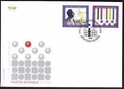 Croatia Zagreb 2005 / Croatian Music / BIENNALE / World Music Days In Zagreb / FDC - Croatie