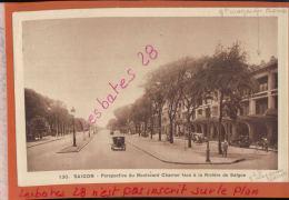 CPA  INDOCHINE COCHINCHINE SAIGON  Perspective Boulevard Charner  (Magasin Charner à Droite)    JANV 2018 115 - Viêt-Nam