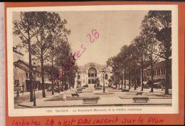 CPA  INDOCHINE COCHINCHINE SAIGON  Le Boulevard BONNARD  Le Théâtre Municipal    JANV 2018 117 - Viêt-Nam