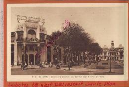 INDOCHINE COCHINCHINE SAIGON  Boulevard CHARNER,  ETS BAINIER Avec Enseigne  CITROEN  + Hotel De Ville   JANV 2018 121 - Viêt-Nam