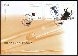 Croatia Zagreb 2005 / Croatian Fauna / Insects / Ladybird, Beetle / FDC - Croatie