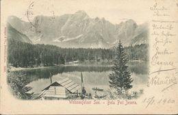 WEISSENFELSER SEE BELA PEČ JEZERA FRIULI-VENEZIA GIULIA ITALIA, PC, Circulated 1900 - Gorizia