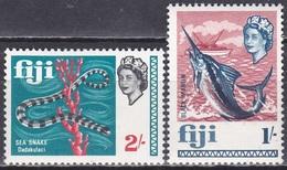 Fidschi-Inseln Fiji 1968 Tiere Fauna Animals Schlangen Snakes Fische Fish, Mi. 220/222 ** - Fiji (1970-...)