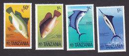 Tanzania, Scott #66-69, Mint Hinged, Fish, Issued 1977 - Tanzania (1964-...)