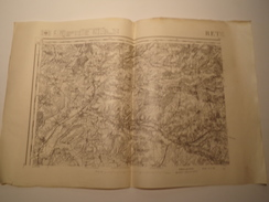 CARTE RETHEL N° 23 REVISEE EN 1912 EDITION PROVISOIRE - Topographical Maps