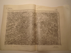 CARTE RETHEL EDITION PROVISOIRE REVISEE EN 1913 - Topographical Maps