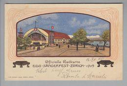 Motiv Sänger 1905 Eidgen. Sängerfest Zürich S-O #S34 Litho - Musique