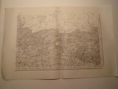 CARTE ROCROI S.E. TYPE 1889 REVISEE EN 1897 - Topographical Maps