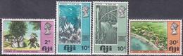 Fidschi-Inseln Fiji 1970 Gesellschaft Gesundheitswesen Lepra Krankenhaus Hospital Lepra Seeigel Wasserfall, Mi. 261-4 ** - Fiji (1970-...)