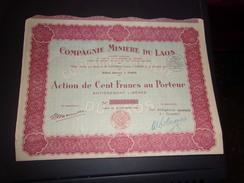 MINIERE DU LAOS (100 Francs) - Shareholdings