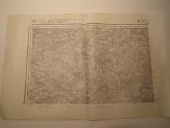 CARTE ROCROI REVISEE EN 1913 EDITION PROVISOIRE - Topographical Maps